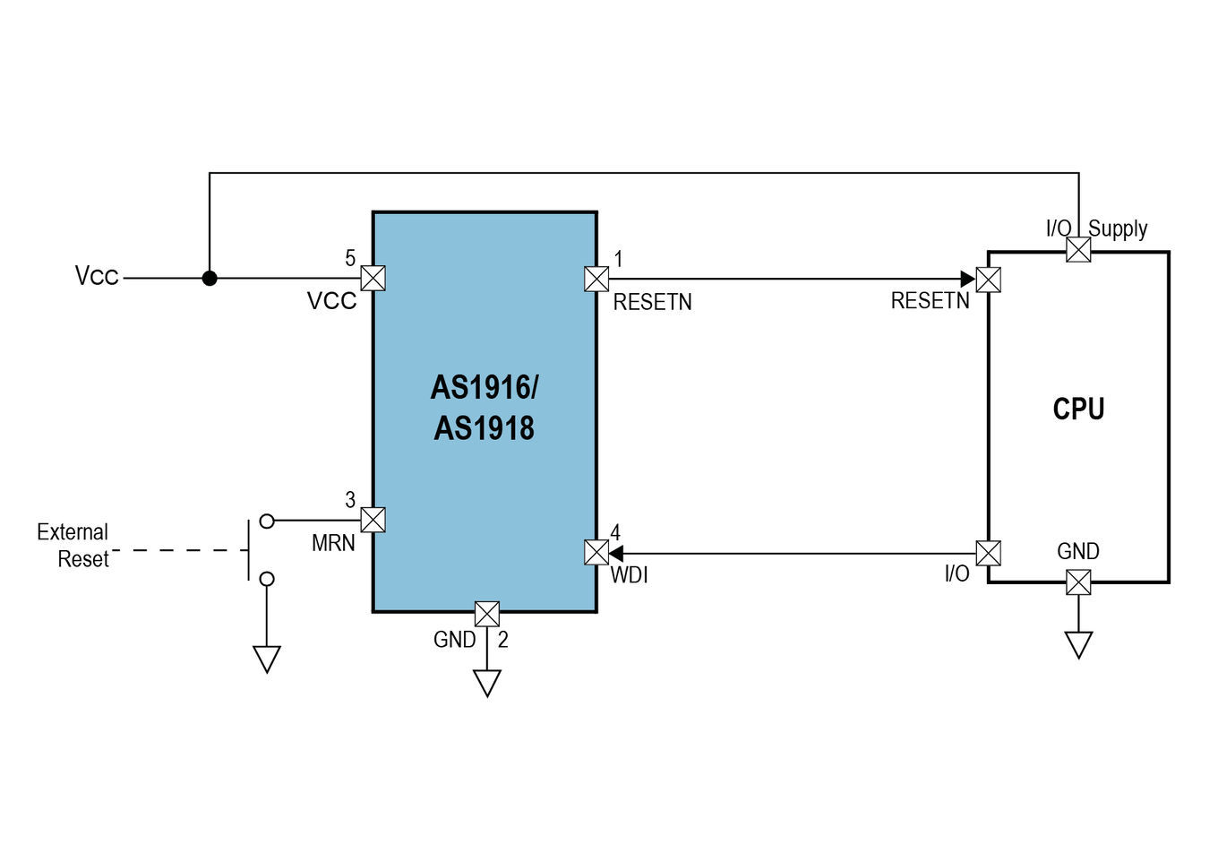 As1917 Voltage Supervisory Ic With Watchdog And Manual Reset Consider The Following Series Resistive Circuit This Product Suits For Applications